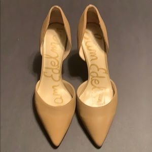Nude slip on Sam Edelman shoes
